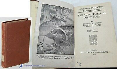 The Adventures of Bobby Coon by Thornton W BURGESS Good illus HC 60070