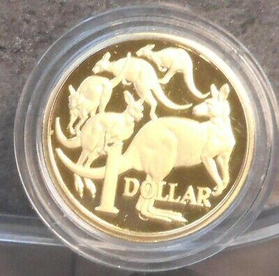 Australia 2019  Proof MOR Mob of Roos  One  Dollar  Coin ex Baby Set NICE!!!