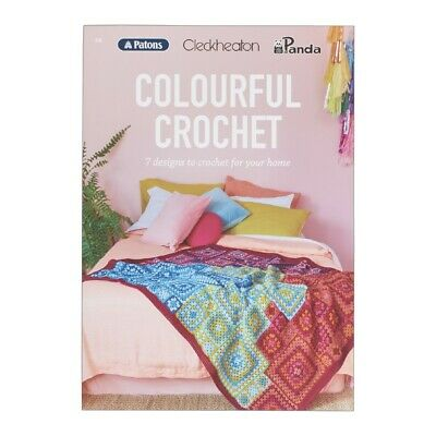 NEW Cleckheaton Colourful Crochet 108 Pattern Book By Spotlight
