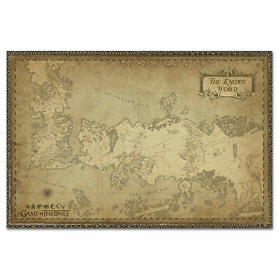 Game of Thrones Westeros Map Art Silk Poster 24x36 24x43