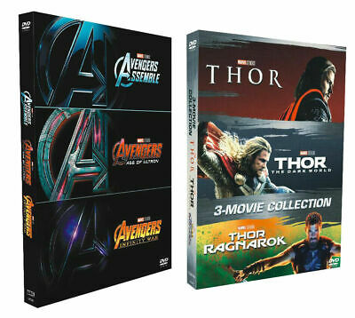 THE AVENGERS 123 & THOR 123  [DVD Collection BoxSets] New & Sealed  - US Seller-
