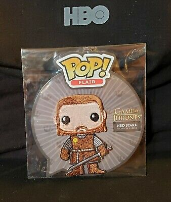 Game of Thrones FUNKO Pop! Flair NED STARK Patch Funko Shop Exclusive 2017 HBO