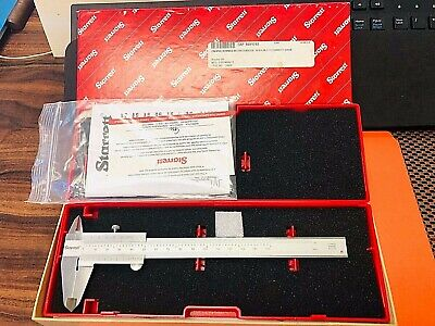 "New! STARRETT No.125MEA-6/150  Stainless Steel Vernier Caliper; 6""/150mm Range."