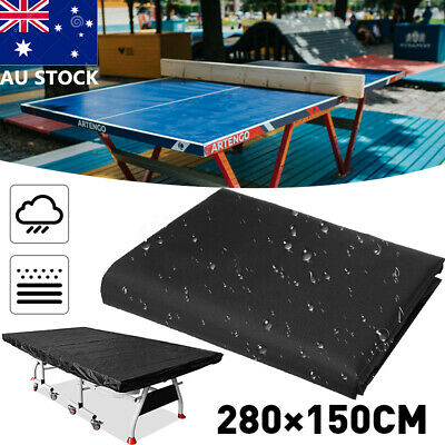 AU 280*150cm Waterproof Dustproof Table Tennis Cover Ping Pong Table Cover Black
