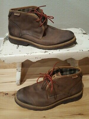 980ae53774dea Men's Pikolinos Brown Leather Chukka Shoes Lace Up Boots Size 40 EU 7.5 US  Nice
