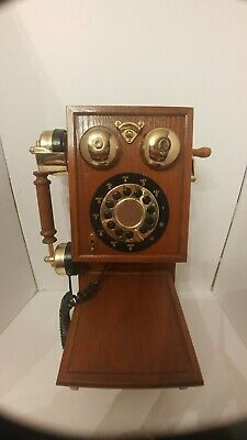 Nostalgic Replica Country Kitchen Wiod Wall Phone. Works 1100314