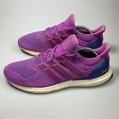 2f422bd94 ADIDAS ULTRA BOOST 1.0 Primeknit Purple Flash Pink B34051 Womens Sz ...