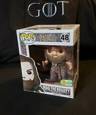 Game of Thrones FUNKO Pop MAG THE MIGHTY 48 SDCC 2016 Official Exclusive w/ Case