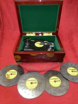 """Vintage Thorens Ad30 4½"""" Disc Player 5 Discs New Kimberly Asian Cabinet (Video)"""