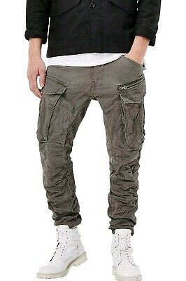 feb80ad678f G-STAR RAW ROVIC Zip 3D Tapered Cargo Pants Olive Navy Men W28 L32 ...