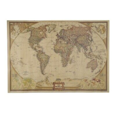 World Map Vintage Retro Matte Paper Kraft Antique Poster Wall Sticker Home Decor