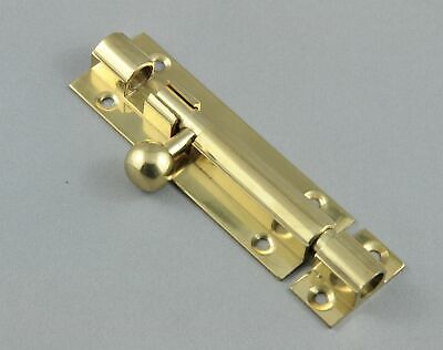 BARREL BOLT-75mm-10 FINISH-SOLID BRASS-HERITAGE VINTAGE STYLE-pad-door-window