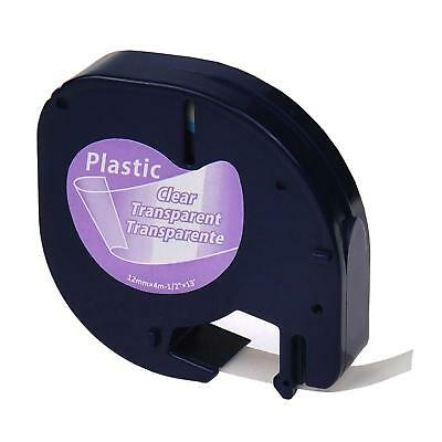 Genuine Dymo Letratag Refill Clear Plastic 12mm 13ft Label Tape 16952
