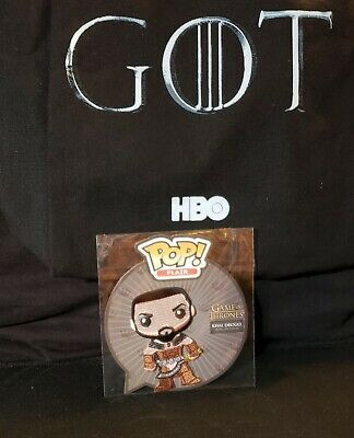 Game of Thrones FUNKO Pop! Flair KHAL DROGO Patch Funko Shop Exclusive 2017 HBO