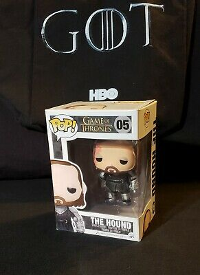 Game of Thrones FUNKO Pop THE HOUND #05 Vinyl Edition 1 Figure w/ Protector Case
