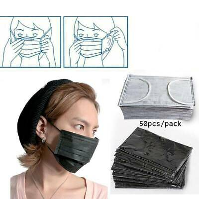 50 x Mouth Disposable Face Dental Medical Surgical Mask Dust Filter Respirato au