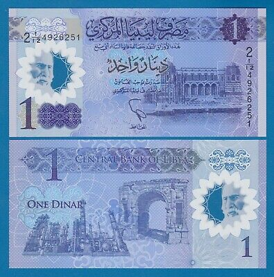LIBYA 1 Dinar P New 2019 UNC Polymer Low Shipping! Combine FREE! 85