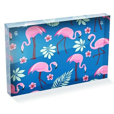 "Tropical Flamingo Birds Photo Block 6 x 4"" - Desk Office Art Cool Gift #8461"