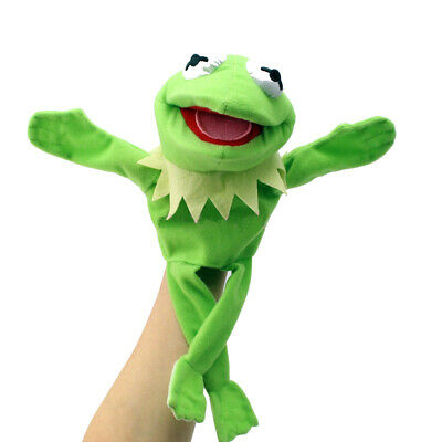 "12"" Green Doll Hand Muppets Most Wanted Show Kermit the Frog Plush Puppet Toy"