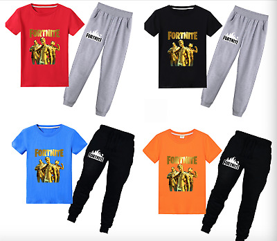 Home Pajamas Tee Shirt Pullover Tops Cosplay Toddle Boys Kids Game Performance
