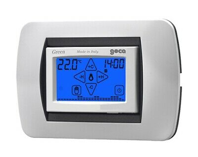 Geca 35292754 Green Cronotermostato Dig.touch Screen Da Incasso Argento/Silver
