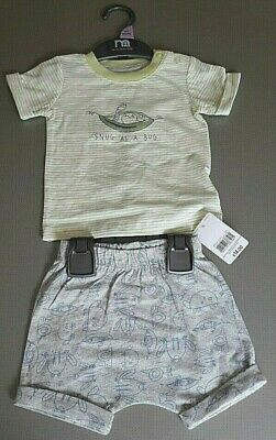 Ex Mothercare t-shirt & short set PICK YOUR SIZE New with Tag