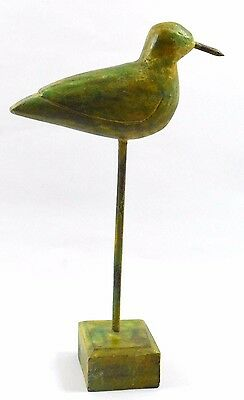 Beautiful India Old Vintage Handcrafted Wooden Highly Decorative Bird. G62-12 AU