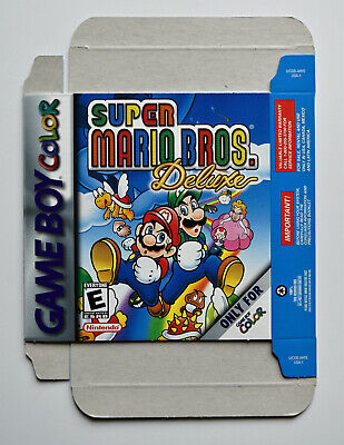 Originalverpackung für Game Boy Color Super Mario Bros. Deluxe - Kartonhülle Neu