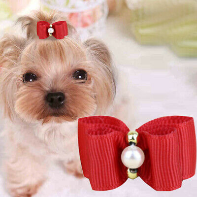 10PCS Pet Dog Hair Clips Bow Tie Dog Grooming Accessories Bowknot For Dogs Cute