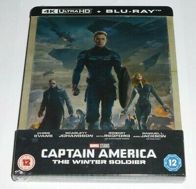 Captain America : The Winter Soldier - 4K + Blu Ray (Steelbook - Uk Exclusive)
