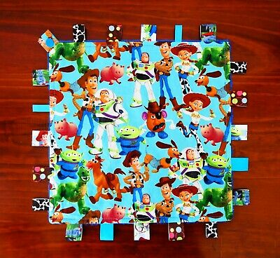 Toy Story Taggie Taggy Tag Security Blanket Toy Comforter dummy clip holder