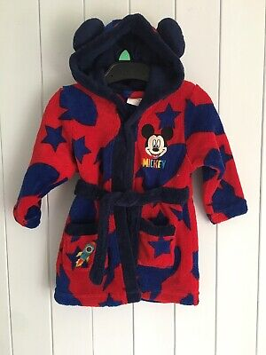 Baby boys dressing gown size 9-12 months MATALAN DISNEY blue reg Mickey Mouse