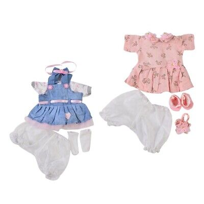 Reborn Baby Girl Doll Clothes Set Newborn Clothing Suit Doll Accessory