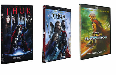 Marvel's Thor Trilogy DVD Includes Thor, The Dark World & Ragnarok 3 Movies NEW!