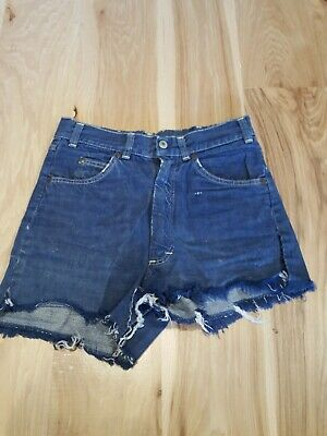 Vintage Ranchcraft Jean Shorts Cuttoffs Highwaisted Size 28 Trashed Distressed