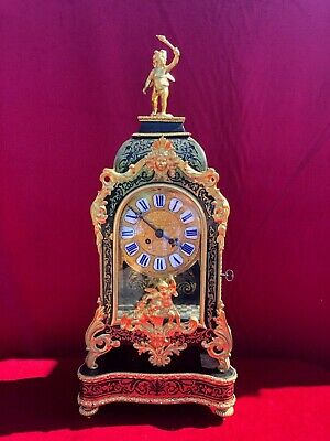 Fine 19 Ct French Boulle Clock In Excellent Condition 1850-1870