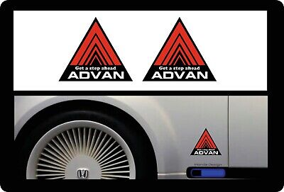 2 x `ADVAN` Triangle Stickers  Decal Car Side Skirt Civic, ae86, spoon, integra