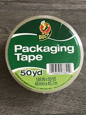 """1 Roll CLEAR DUCK Standard Grade Packaging TAPE Shipping 1.88"""" x 50 yd NEW"""