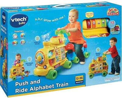 NEW VTech Baby Push & Ride Alphabet Train 12-36 Months Educational Activity Toy!