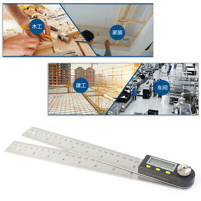 "8"" 2 in1 Electronic Protractor Digital Goniometer Angle Finder Miter Gauge Ruler"
