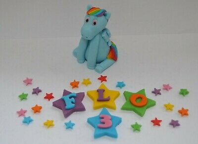 Handmade Edible My Little Pony, Cake Topper, Decoration, Birthday