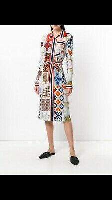 4536ea26179 NWT Tory Burch Laurence Shirtdress In Scrapbook Print - Size M - Retail  448