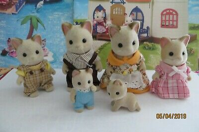 Sylvanian Families 2007 Keats Cat Family of 6 - Calico Critters