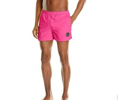 d0a1849c89 Maui And Sons Mens Party Rocker Volley Swim Short Neon Pink Size M New 22.99