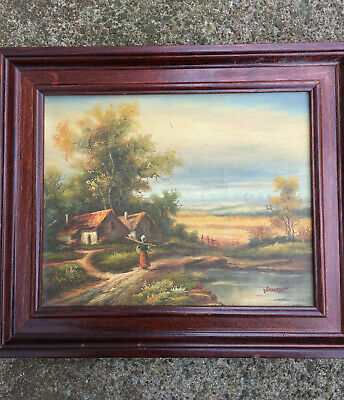 Vintage European, Dutch, Oil on Canvas Signed Vanderbilt, Country Scene, Nice