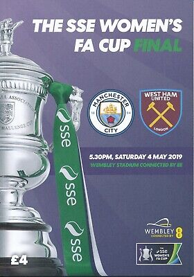 WOMEN'S FA CUP FINAL PROGRAMME 2019 Manchester City v West Ham United