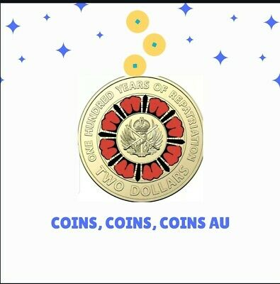 2019 Anzac 100 Years Repatriation $2 Two Dollar Coin Uncirculated