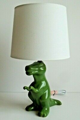 Kids Dinosaur Table Lamp Boys Nursery Toddler Room Light Home Decor Art