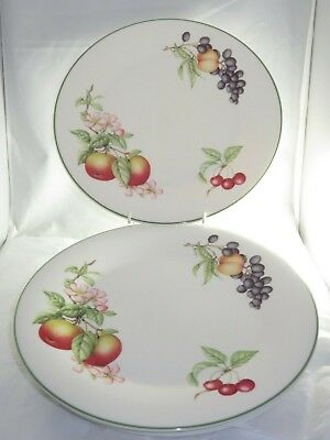 Marks And Spencer Ashberry ( Fruits)  5 X 10.75 Inch Dinner Plates