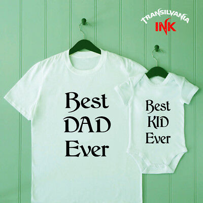 Best Kid Ever Dad and Son Matching T Shirt Baby Shower Bodysuit Father Tee Gift